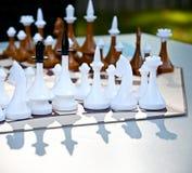 Παιχνίδι σκακιού για τρεις παίκτες Εξαγωνικός πίνακας σκακιού Ρωσικό σκάκι Στοκ εικόνες με δικαίωμα ελεύθερης χρήσης