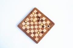 Παιχνίδι σκακιού Ο βασιλιάς σκακιού είναι, παιχνίδι σκακιού Στοκ φωτογραφία με δικαίωμα ελεύθερης χρήσης