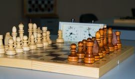 Παιχνίδι σκακιού πινάκων με τους αριθμούς Στοκ εικόνες με δικαίωμα ελεύθερης χρήσης