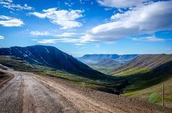 Παιχνίδι σκιών στην Ισλανδία Στοκ Φωτογραφίες