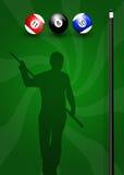 Παιχνίδι στο μπιλιάρδο ελεύθερη απεικόνιση δικαιώματος