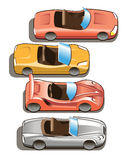 παιχνίδι ταξί αυτοκινήτων διαδρόμων κίτρινο Στοκ Φωτογραφίες