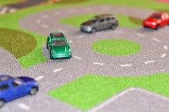 παιχνίδι ταξί αυτοκινήτων διαδρόμων κίτρινο Στοκ φωτογραφία με δικαίωμα ελεύθερης χρήσης