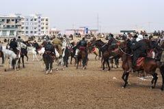 Παιχνίδι του Αφγανιστάν Buskashe Στοκ εικόνα με δικαίωμα ελεύθερης χρήσης
