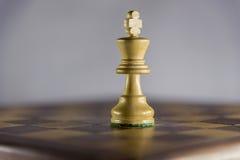 Παιχνίδι του σκακιού, βασιλιάς Στοκ Φωτογραφία