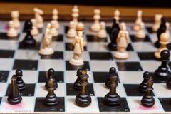 Παιχνίδι του σκακιού λεπτομερώς Στοκ φωτογραφία με δικαίωμα ελεύθερης χρήσης