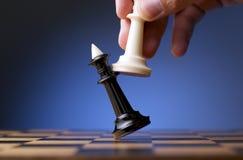 Παιχνίδι του σκακιού Στοκ εικόνα με δικαίωμα ελεύθερης χρήσης