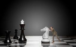 Παιχνίδι του σκακιού Στοκ Εικόνες
