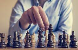 Παιχνίδι του σκακιού Στοκ εικόνες με δικαίωμα ελεύθερης χρήσης