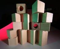 παιχνίδι τούβλων ξύλινο Στοκ Φωτογραφίες
