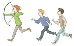 Παιχνίδι τριών παιδιών Στοκ Φωτογραφία