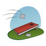 Παιχνίδι τρυπών καλαμποκιού διανυσματική απεικόνιση