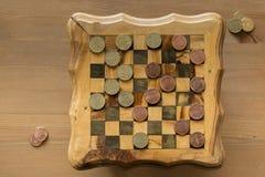 Παιχνίδι των ελεγκτών - αμερικανικά σεντ ΕΝΑΝΤΙΟΝ των eurocents Στοκ Εικόνες