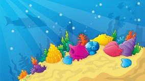 Παιχνίδι υποβρύχιο Wold κινούμενων σχεδίων ελεύθερη απεικόνιση δικαιώματος
