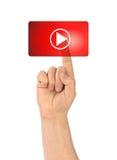 Παιχνίδι χεριών και κουμπιών Στοκ εικόνα με δικαίωμα ελεύθερης χρήσης