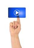 Παιχνίδι χεριών και κουμπιών Στοκ φωτογραφία με δικαίωμα ελεύθερης χρήσης