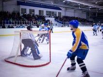 Παιχνίδι χόκεϋ πάγου Στοκ φωτογραφίες με δικαίωμα ελεύθερης χρήσης