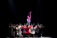Παιχνίδι όχι το συνήθη ρόλος-μπλε και το λευκό κάποιου ο porcelainr-εθνικός λαϊκός χορός Στοκ φωτογραφία με δικαίωμα ελεύθερης χρήσης