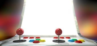 Παιχνίδι Arcade με τη φωτισμένη οθόνη Στοκ εικόνα με δικαίωμα ελεύθερης χρήσης