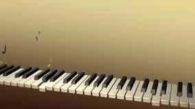 Παιχνίδι pianist φαντασμάτων με τις σημειώσεις που αυξάνονται από τα κλειδιά απόθεμα βίντεο