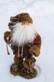 Παιχνίδι Santa στο χιόνι Στοκ Εικόνα
