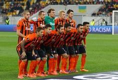 Παιχνίδι Shakhtar Ntone'tsk ένωσης UEFA Ευρώπη εναντίον Anderlecht Στοκ φωτογραφίες με δικαίωμα ελεύθερης χρήσης