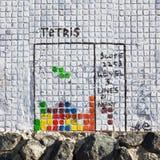 Παιχνίδι tetris γκράφιτι Στοκ Εικόνες