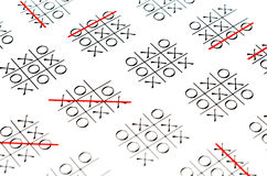 Παιχνίδι toe TAC σπασμού Στοκ φωτογραφία με δικαίωμα ελεύθερης χρήσης