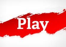 Παιχνιδιού κόκκινη απεικόνιση υποβάθρου βουρτσών αφηρημένη διανυσματική απεικόνιση