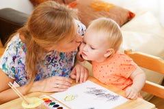 παιδί η μητέρα της Στοκ φωτογραφία με δικαίωμα ελεύθερης χρήσης