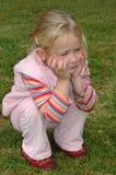 παιδί κάτω από τη συνεδρίασ&et Στοκ Εικόνες