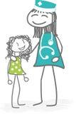 Παιδί και γιατρός ή νοσοκόμα ελεύθερη απεικόνιση δικαιώματος