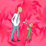 Παιδί και γονέας στο κατάστημα Στοκ Εικόνες