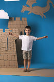 Παιδί και κάστρο στοκ εικόνες με δικαίωμα ελεύθερης χρήσης