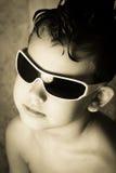 Παιδί και δροσερό κούρεμα Στοκ Φωτογραφίες