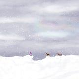Παιδί και deers απορριμάτων Στοκ φωτογραφία με δικαίωμα ελεύθερης χρήσης