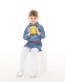 παιδί μήλων λίγα Στοκ φωτογραφία με δικαίωμα ελεύθερης χρήσης