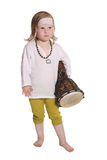 Παιδί με ένα τύμπανο Στοκ φωτογραφία με δικαίωμα ελεύθερης χρήσης