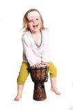 Παιδί με ένα τύμπανο Στοκ Εικόνες