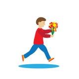 Παιδί με τα λουλούδια Στοκ Εικόνα