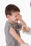 Παιδί με την έγχυση Στοκ φωτογραφία με δικαίωμα ελεύθερης χρήσης