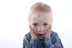 Παιδί με το ασβεστοκονίαμα Στοκ φωτογραφίες με δικαίωμα ελεύθερης χρήσης