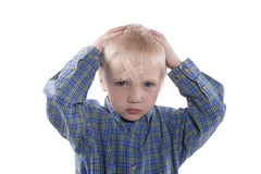 Παιδί με το ασβεστοκονίαμα Στοκ Εικόνες
