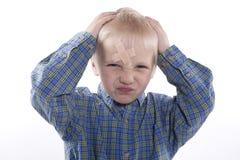 Παιδί με το ασβεστοκονίαμα Στοκ φωτογραφία με δικαίωμα ελεύθερης χρήσης