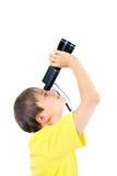 Παιδί με το μονόκλ Στοκ Εικόνες