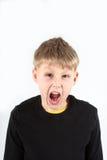 Παιδί με το ξέσπασμα στοκ εικόνα με δικαίωμα ελεύθερης χρήσης