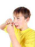 Παιδί με το σπυράκι Στοκ φωτογραφίες με δικαίωμα ελεύθερης χρήσης