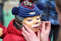 Παιδί με το makeup Στοκ φωτογραφία με δικαίωμα ελεύθερης χρήσης