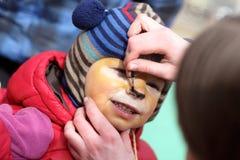 Παιδί με το makeup Στοκ φωτογραφίες με δικαίωμα ελεύθερης χρήσης