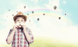 Παιδί με το mustache Στοκ Εικόνα